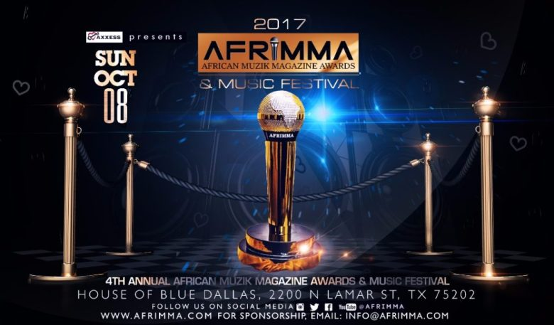 Jessica cade, AFRIMMA, African Muzik Magazine Awards